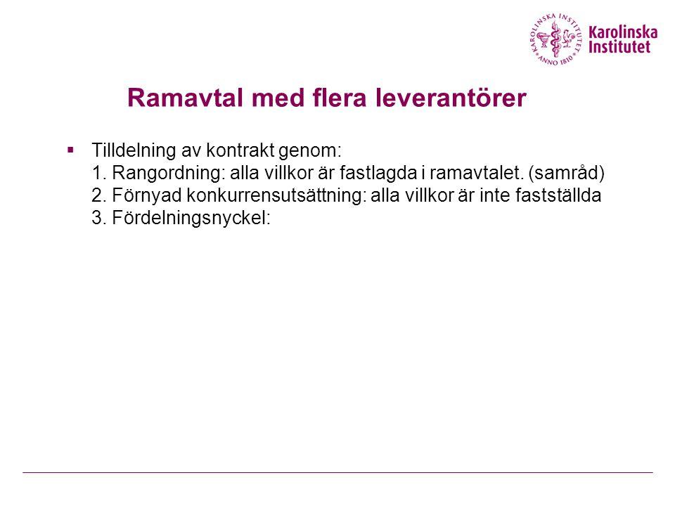 Ramavtal med flera leverantörer