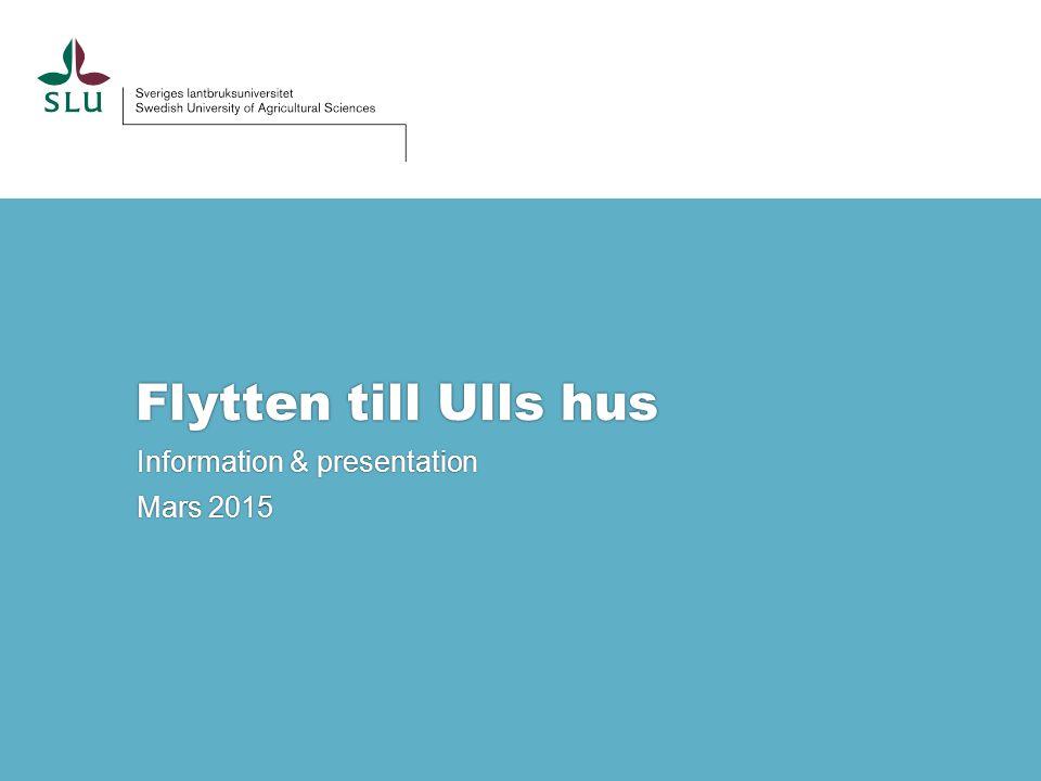 Information & presentation Mars 2015