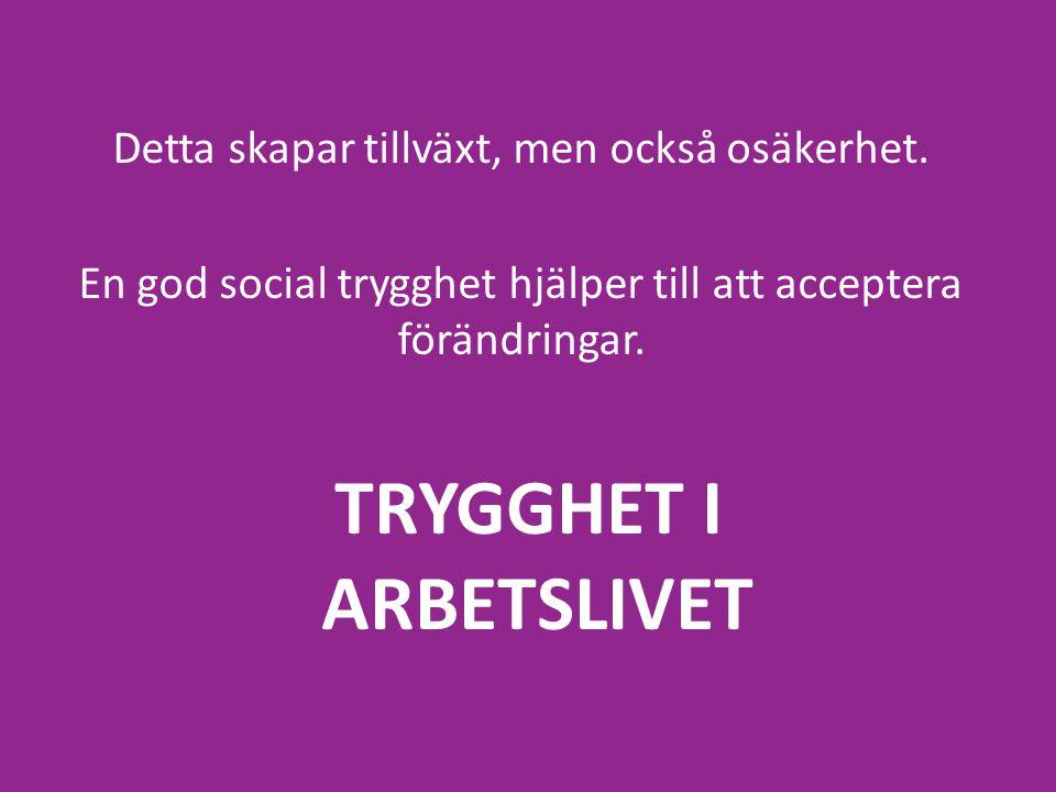 TRYGGHET I ARBETSLIVET