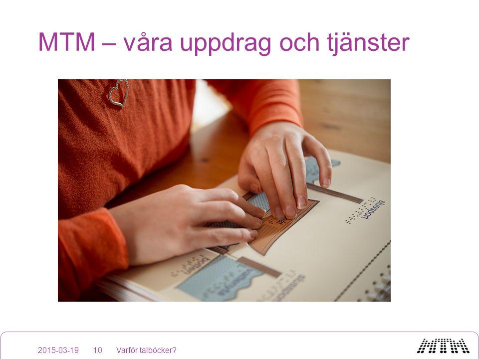 MTM – våra uppdrag och tjänster