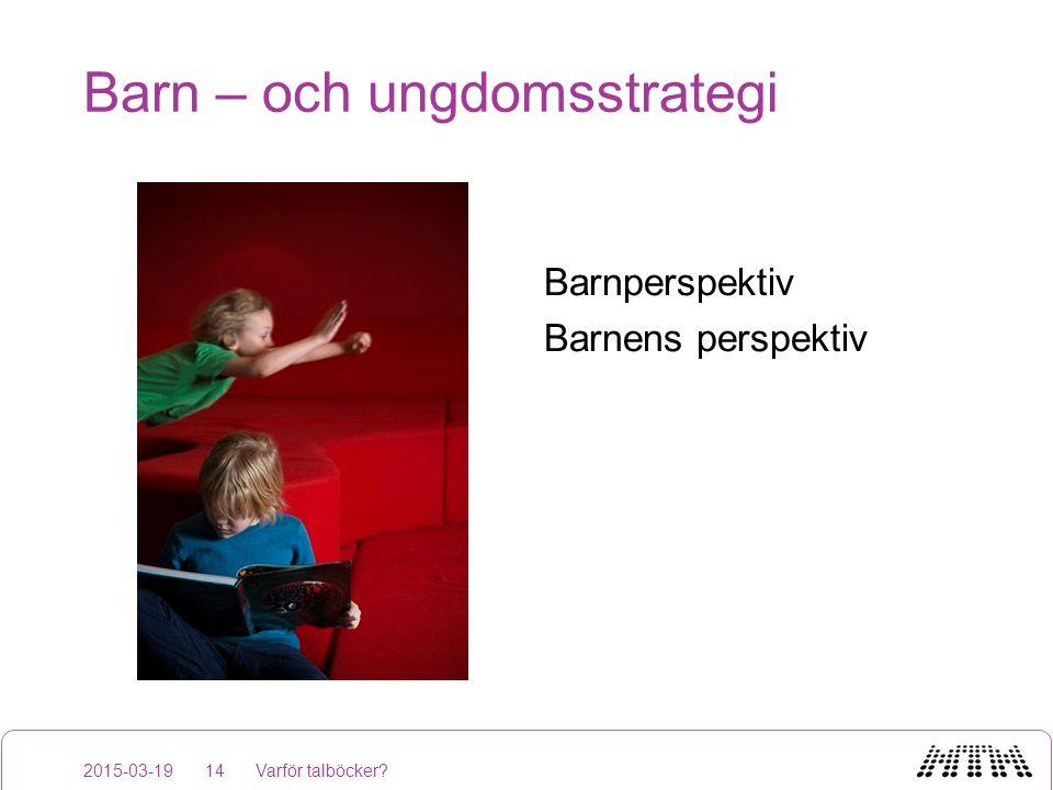 Barn – och ungdomsstrategi