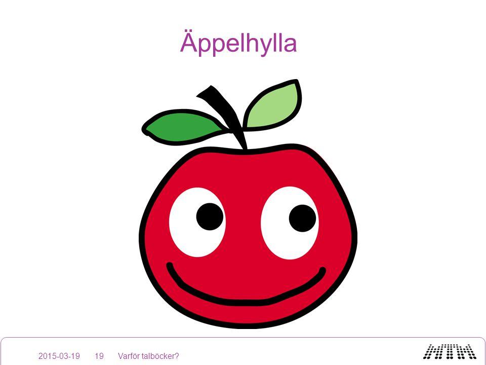 Äppelhylla 2015-03-19 Varför talböcker
