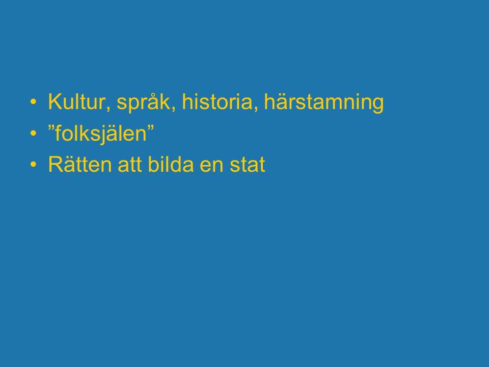 Kultur, språk, historia, härstamning