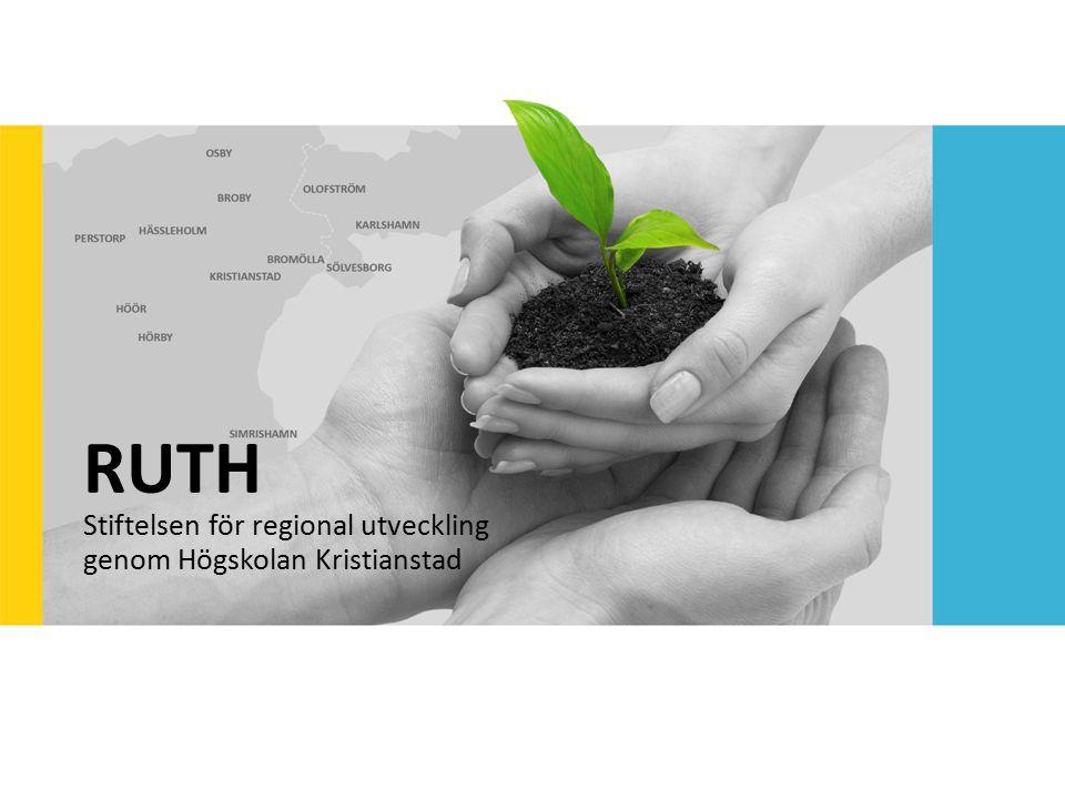 RUTH Stiftelsen för regional utveckling genom Högskolan Kristianstad