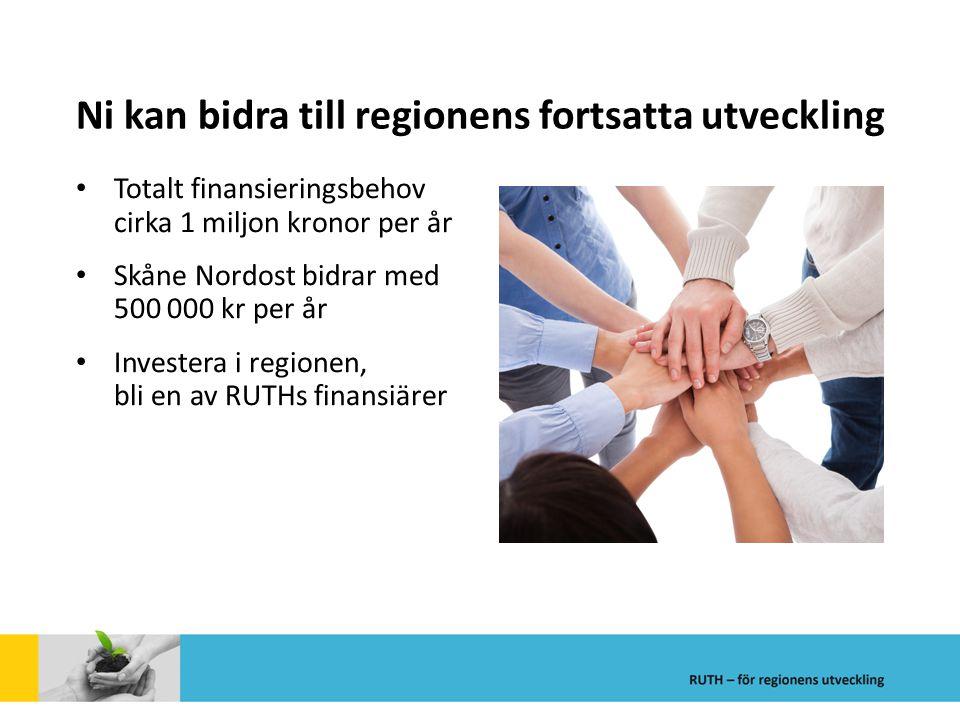Ni kan bidra till regionens fortsatta utveckling