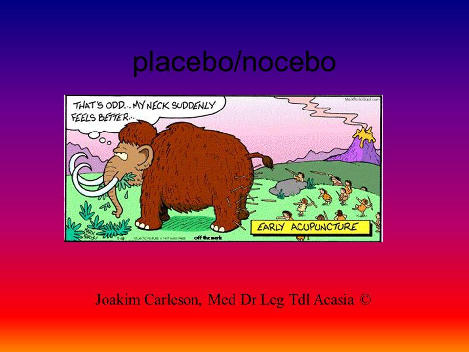 placebo/nocebo Joakim Carleson, Med Dr Leg Tdl Acasia ©