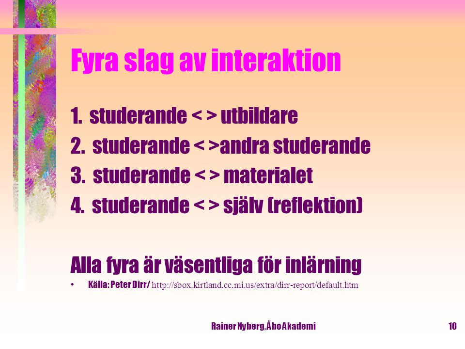 Fyra slag av interaktion