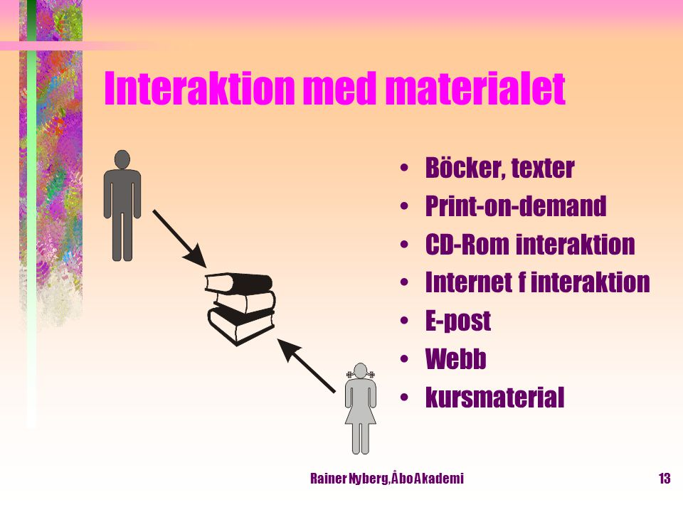 Interaktion med materialet