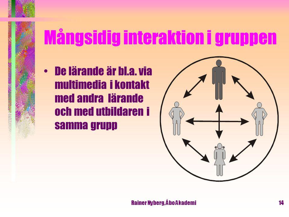 Mångsidig interaktion i gruppen