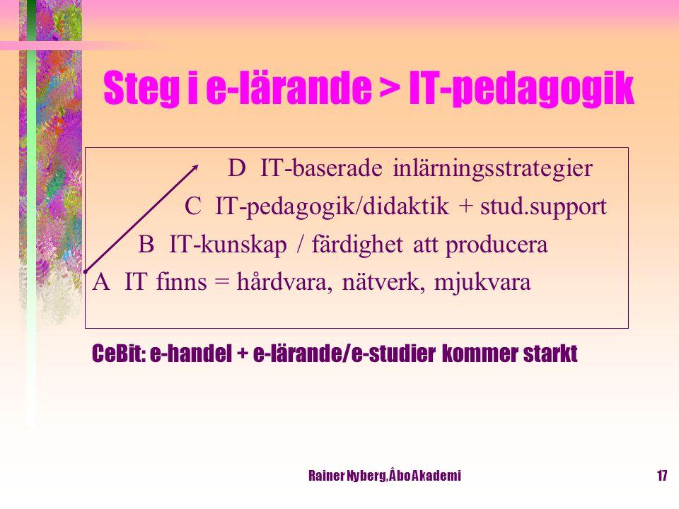 Steg i e-lärande > IT-pedagogik