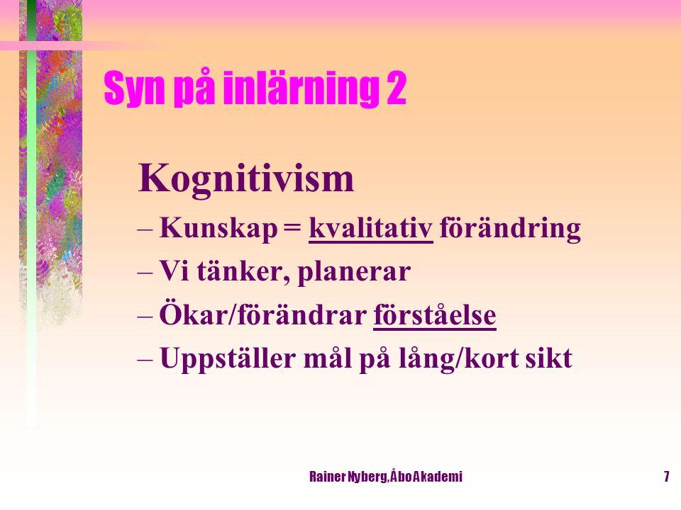 Rainer Nyberg, Åbo Akademi