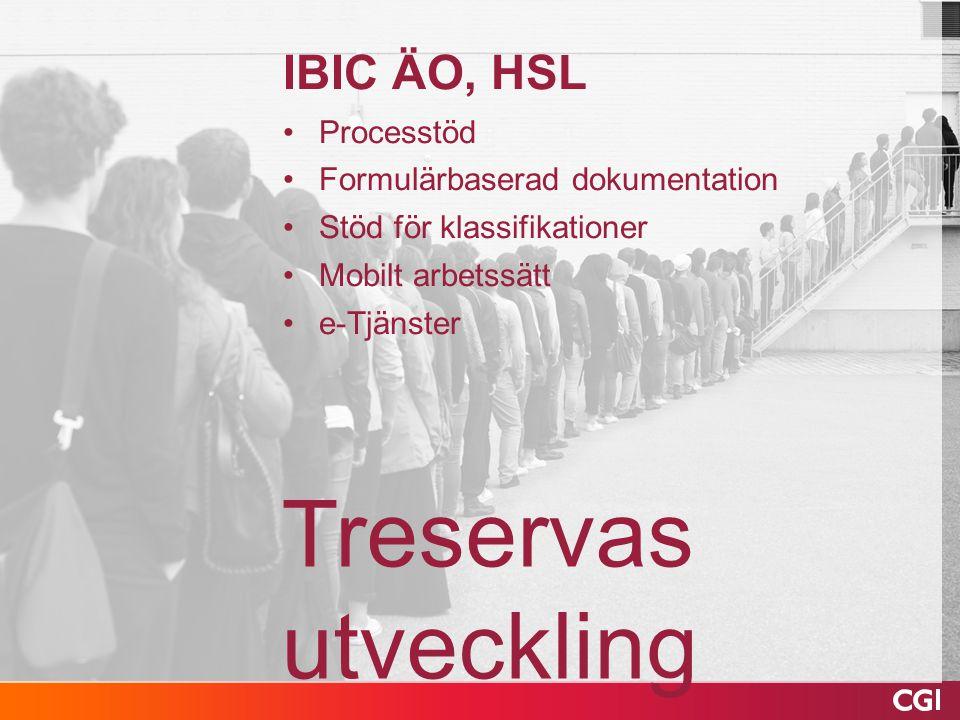 Treservas utveckling IBIC ÄO, HSL Processtöd