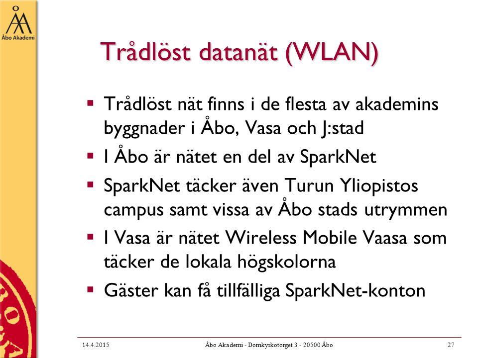 Trådlöst datanät (WLAN)