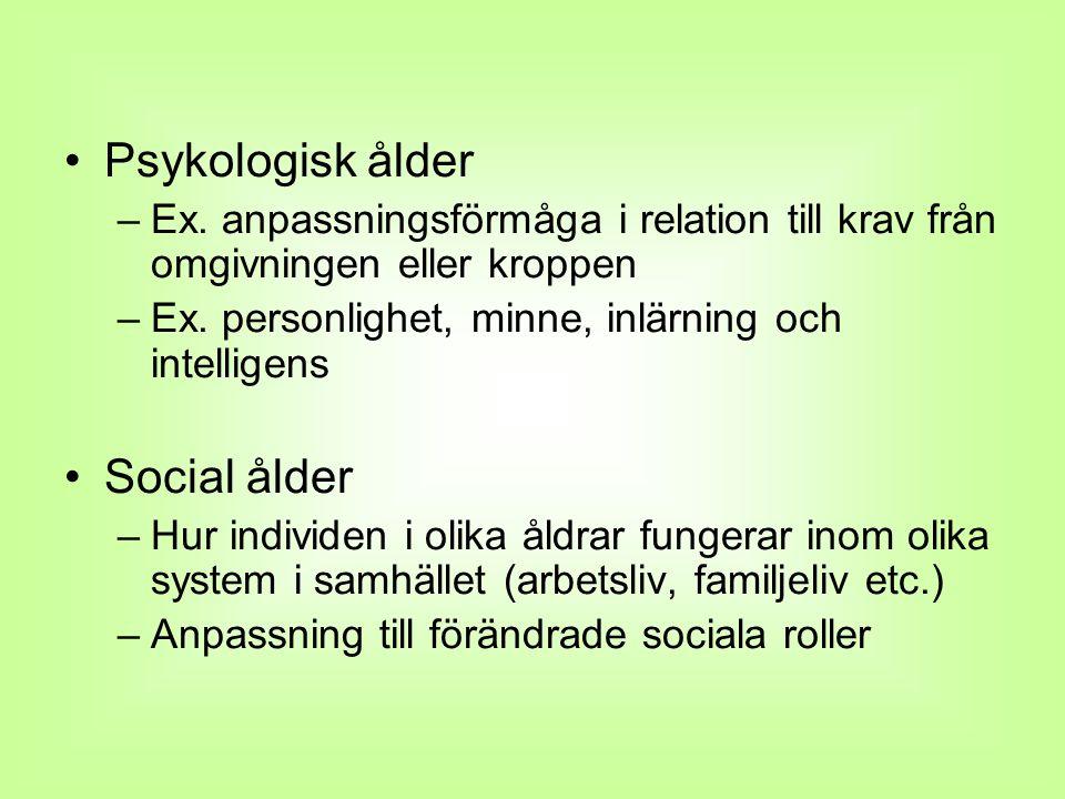 Psykologisk ålder Social ålder