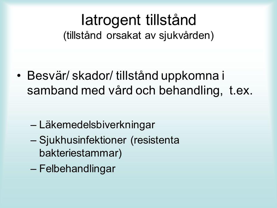 Iatrogent tillstånd (tillstånd orsakat av sjukvården)