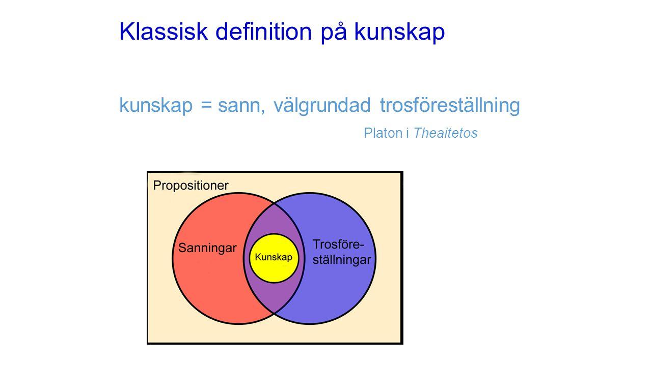 Klassisk definition på kunskap