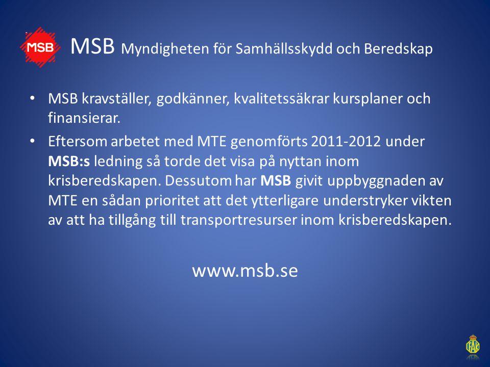 MSB Myndigheten för Samhällsskydd och Beredskap