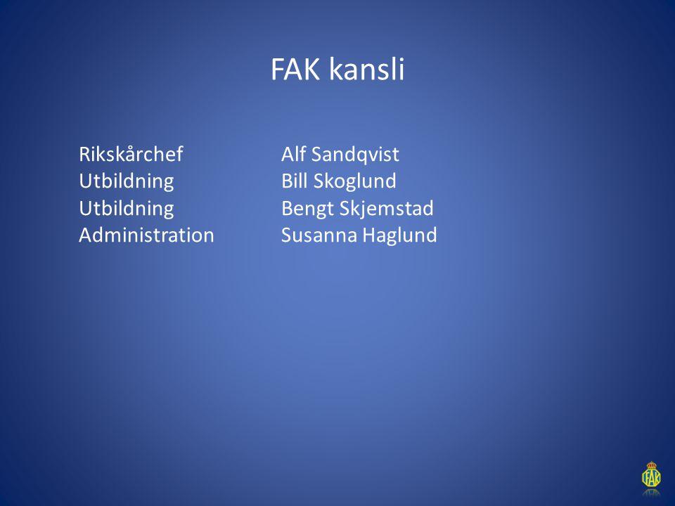 FAK kansli Rikskårchef Alf Sandqvist Utbildning Bill Skoglund