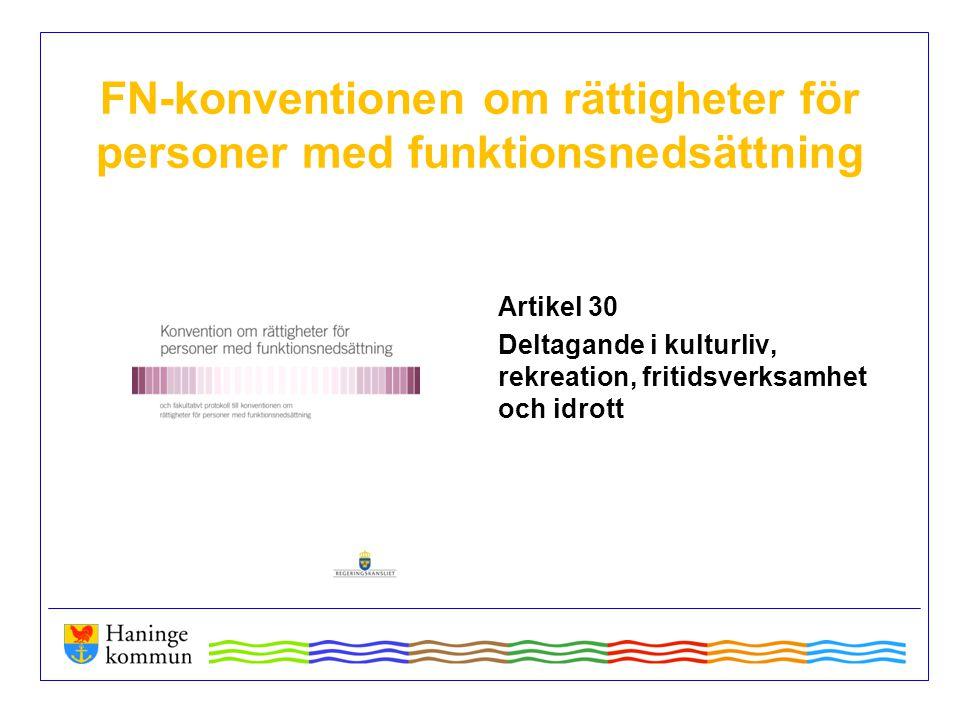 FN-konventionen om rättigheter för personer med funktionsnedsättning