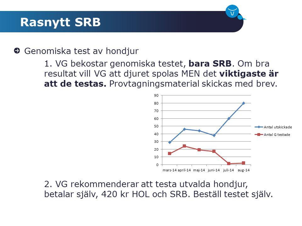 Rasnytt SRB Genomiska test av hondjur