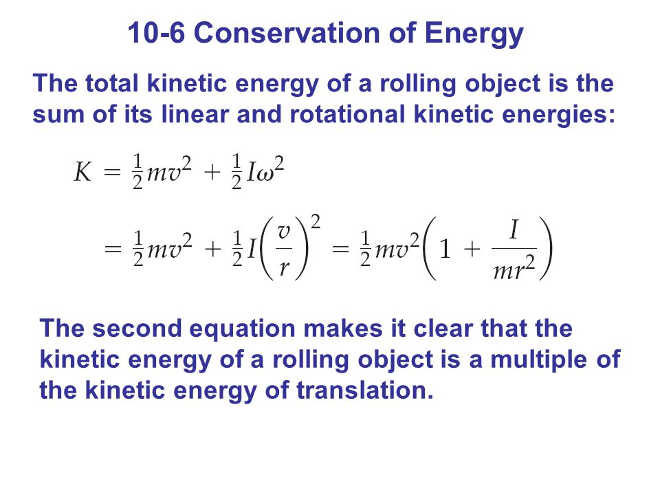 10-6 Conservation of Energy