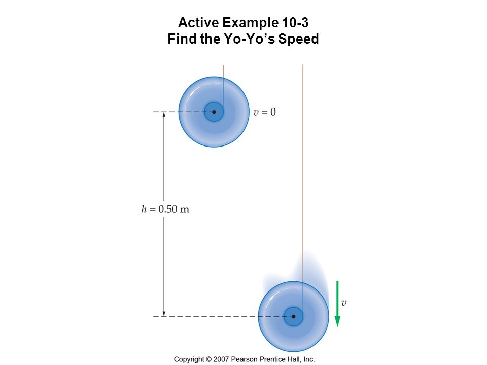 Active Example 10-3 Find the Yo-Yo's Speed