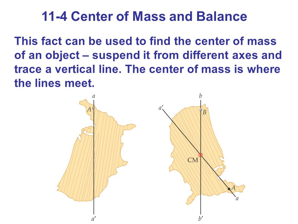11-4 Center of Mass and Balance