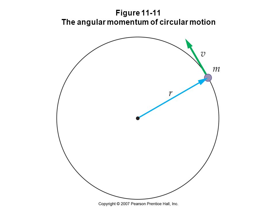 Figure 11-11 The angular momentum of circular motion