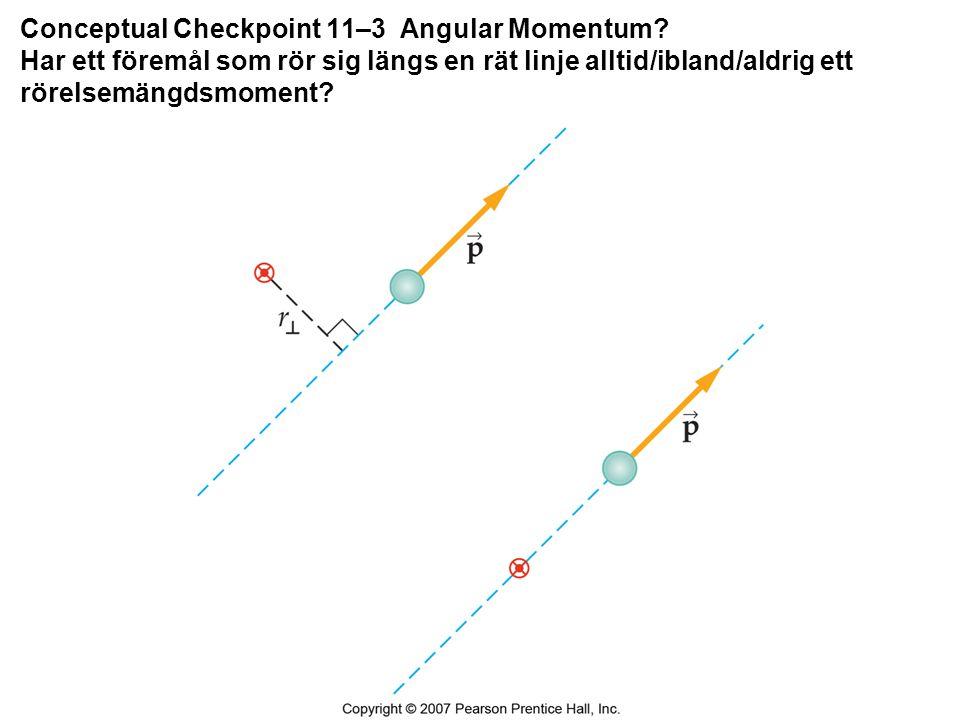 Conceptual Checkpoint 11–3 Angular Momentum