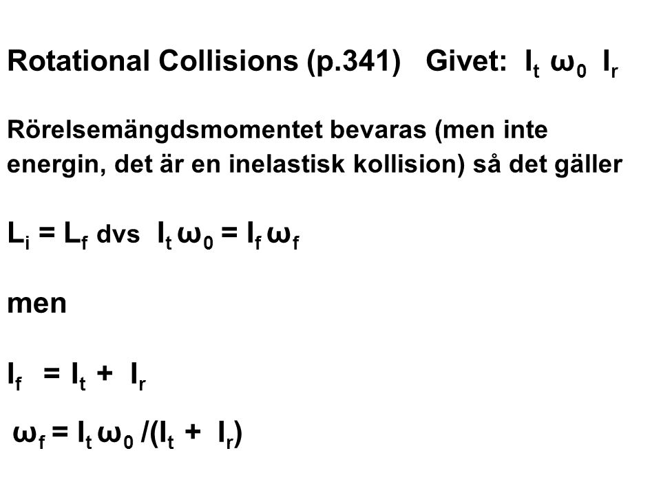 Rotational Collisions (p