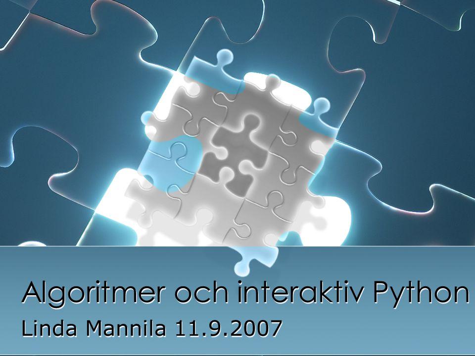 Algoritmer och interaktiv Python