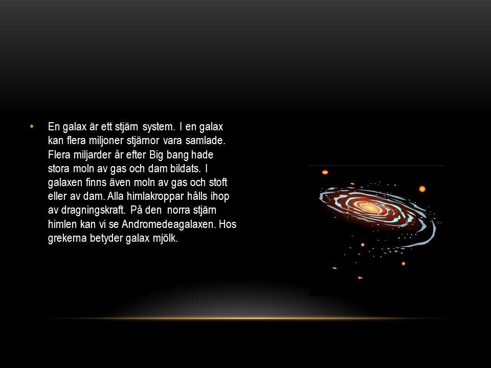 En galax är ett stjärn system