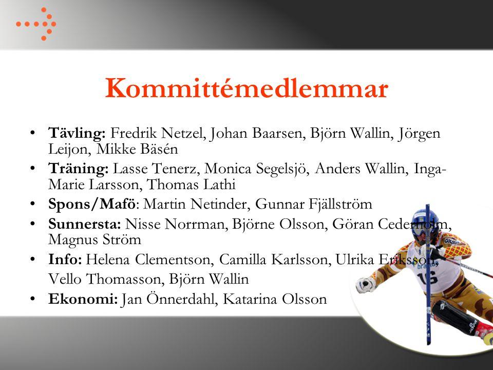 Kommittémedlemmar Tävling: Fredrik Netzel, Johan Baarsen, Björn Wallin, Jörgen Leijon, Mikke Bäsén.