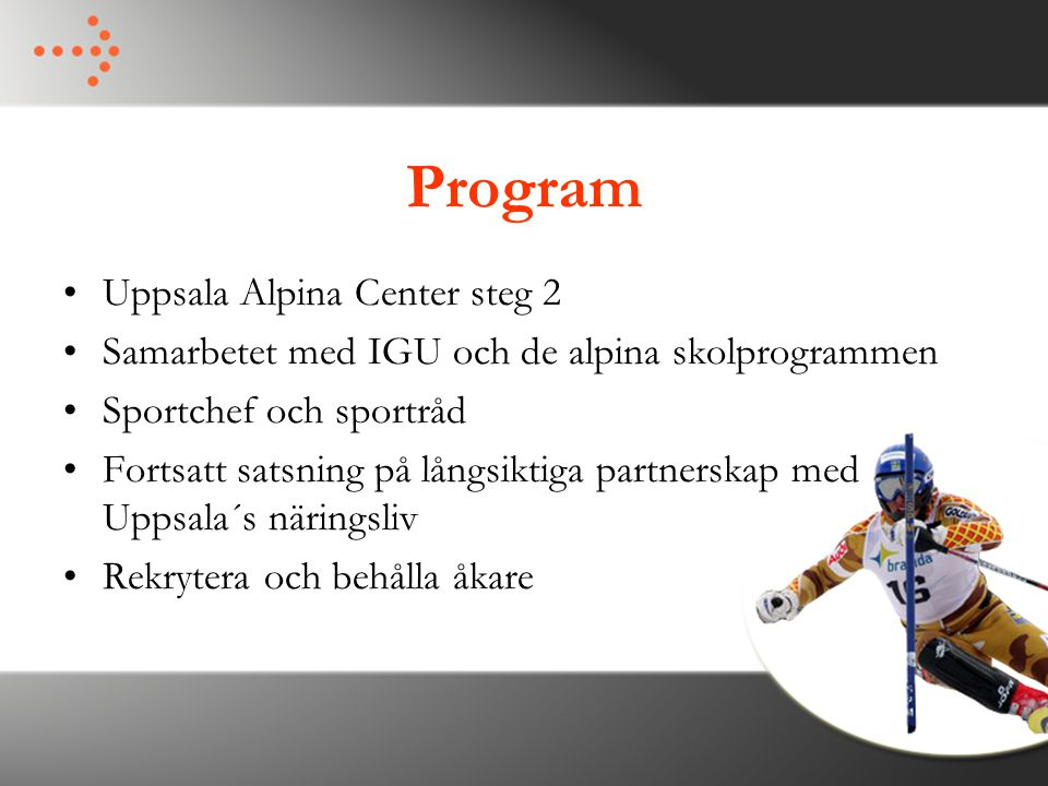 Program Uppsala Alpina Center steg 2