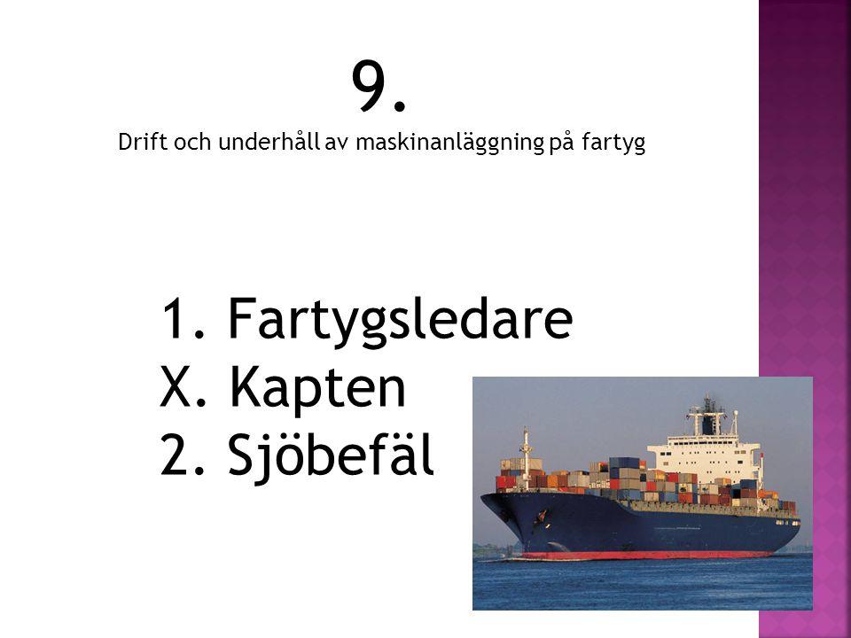 Drift och underhåll av maskinanläggning på fartyg