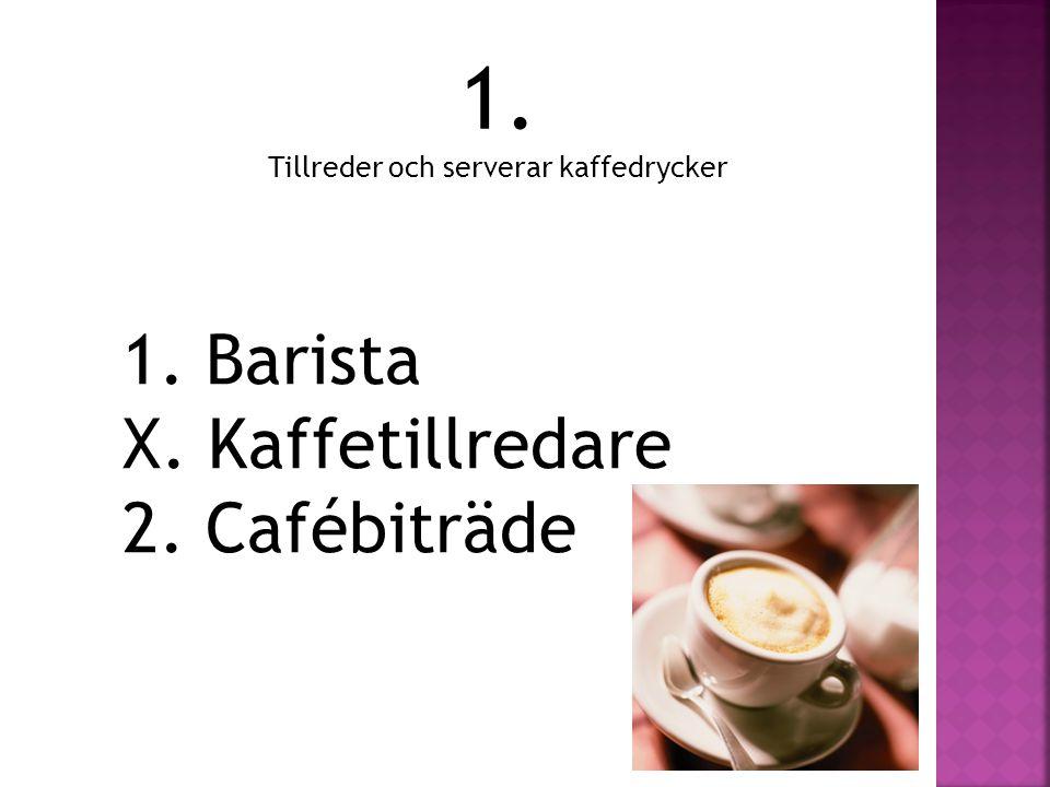 Tillreder och serverar kaffedrycker