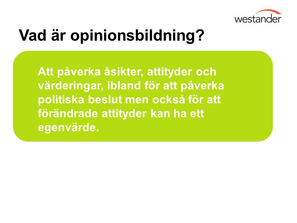 Vad är opinionsbildning