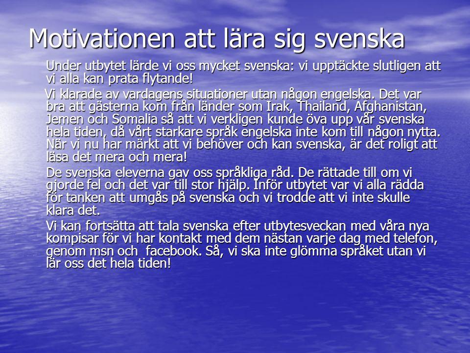 Motivationen att lära sig svenska