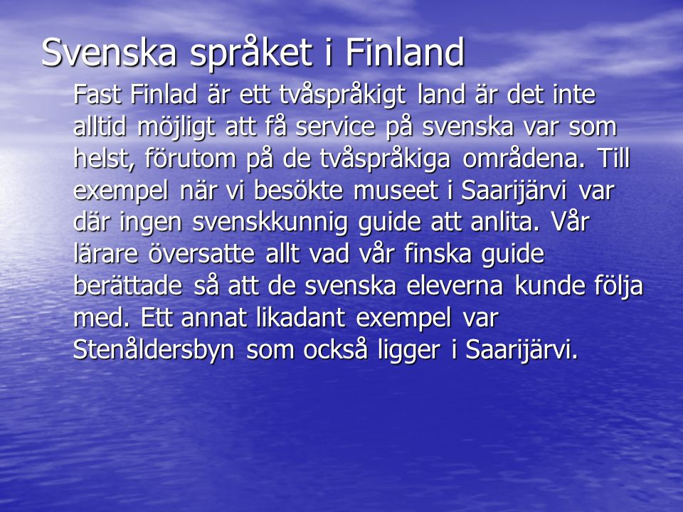 Svenska språket i Finland