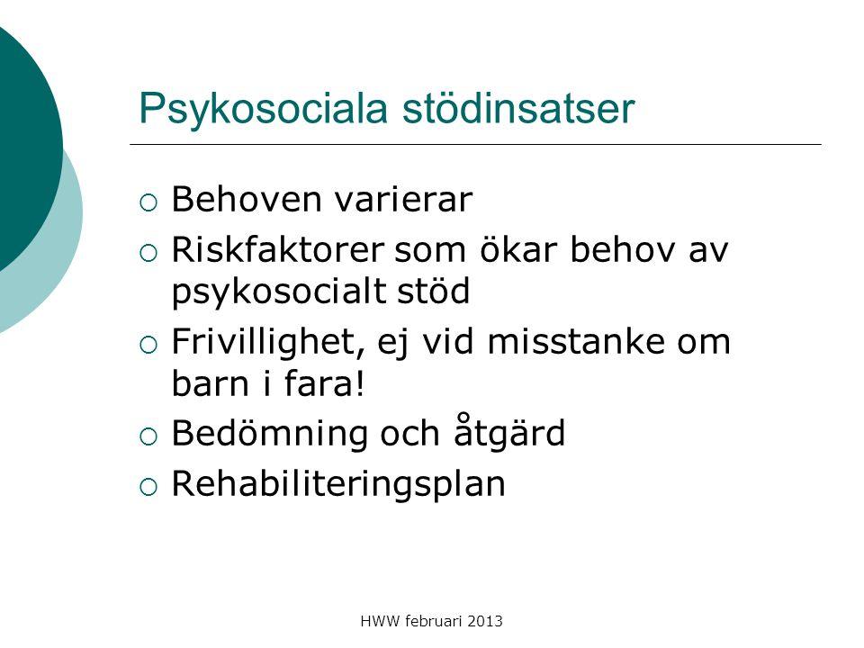 Psykosociala stödinsatser
