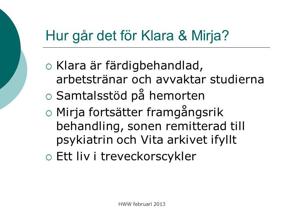 Hur går det för Klara & Mirja