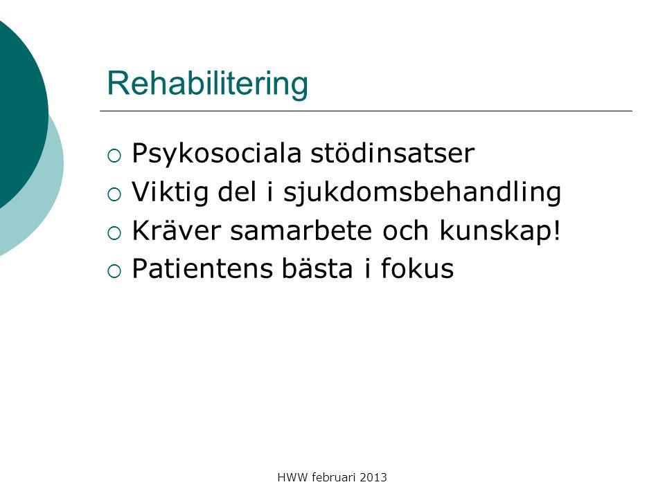 Rehabilitering Psykosociala stödinsatser
