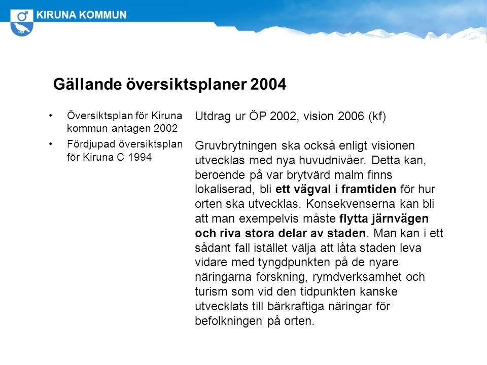 Gällande översiktsplaner 2004