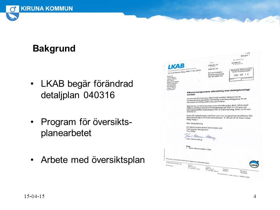 LKAB begär förändrad detaljplan 040316