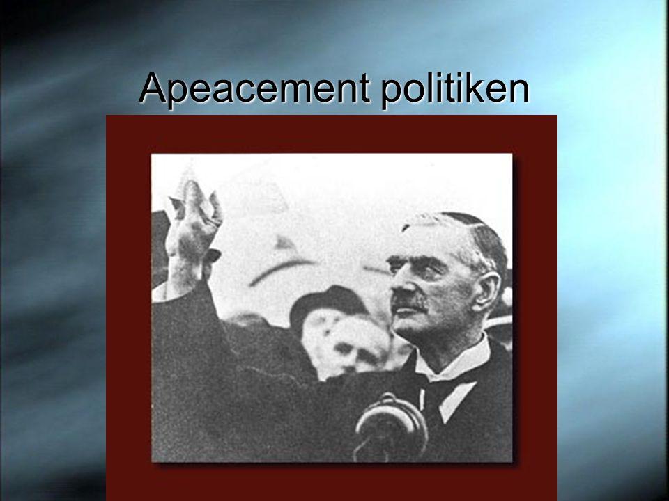 Apeacement politiken