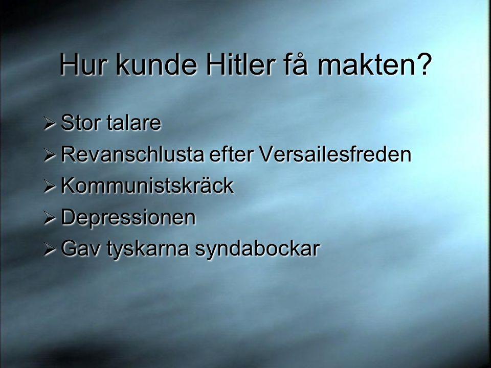 Hur kunde Hitler få makten