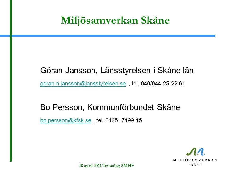 Miljösamverkan Skåne Göran Jansson, Länsstyrelsen i Skåne län