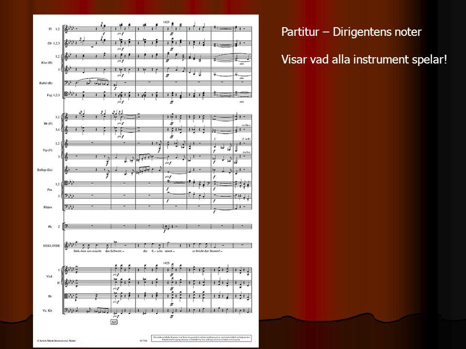 Partitur – Dirigentens noter