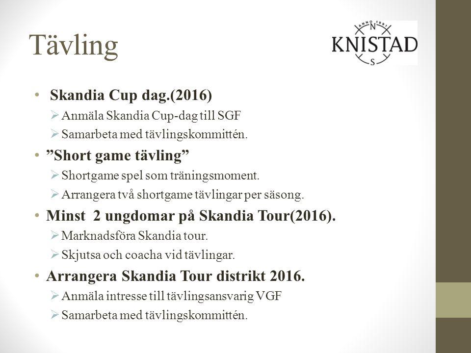 Tävling Skandia Cup dag.(2016) Short game tävling