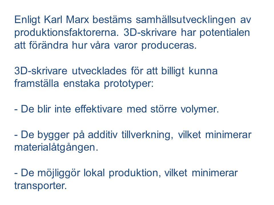 Enligt Karl Marx bestäms samhällsutvecklingen av produktionsfaktorerna